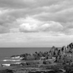 North Devon Coast: The overcast light looked enchanting as it caught the angles of these rocks.