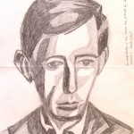 Laurie Lee: Drawn from the portrait of poet and novelest, Laurie Lee by Anthony Davas.