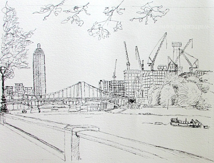 Vauxhall and Battersea Line Art