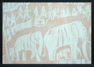 Paint Illustration on Balsa wood