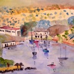 Crete. Harbour view. 1987