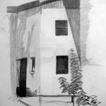 Corner of town building. Soll, Austria. 19880728