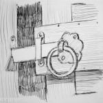 Gate latch. 19910817