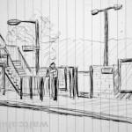 01. Welwyn North station platform. 19940607