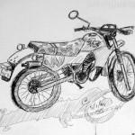 Motorbike. Koss Island, Greece. 19940706/5