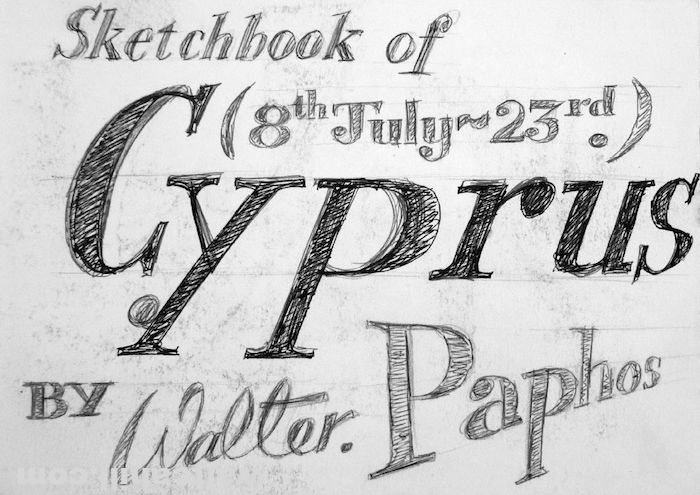 Holiday Journal Intro, Paphos, Cyprus. July 1995
