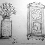Vase and Pendulum Clock. 19960924