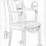If my chair were a Star Wars character. Darth Chairius. 20160523.