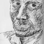 Walt self portrait. Reflection in a train window. 20150108