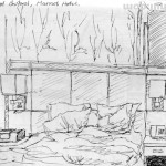 Marriot Hotel, Buford, Atlanta #2. Drawn while unable to sleep due to jetlag. 20150226