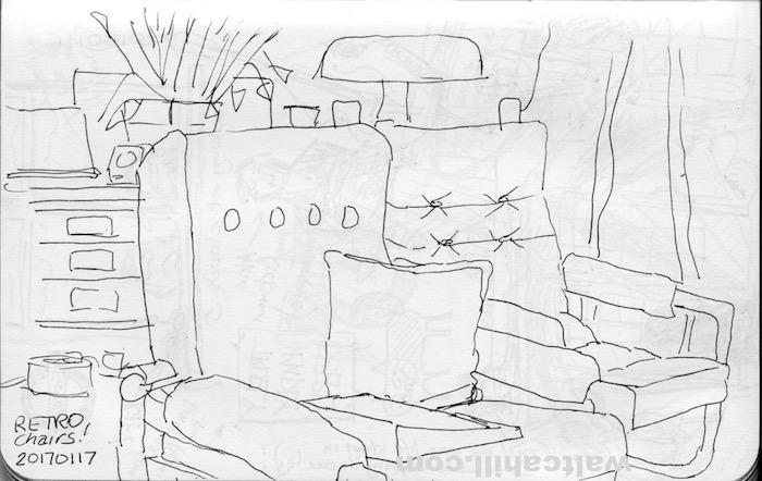 Retro chairs: Probably born in the sevenites. 20160117