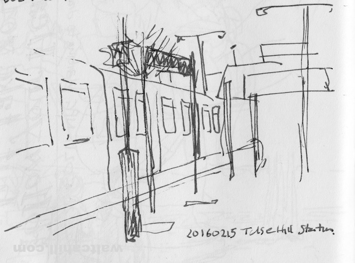 Tulse Hill station. We got booted off this train at this station because the train was too behind on its timetable. The only alternative train from here took me on a scenic route of North East London (not where I wanted to go). 20160215