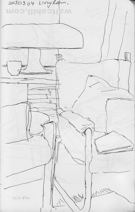 Living room: View from the sofa. 20160304