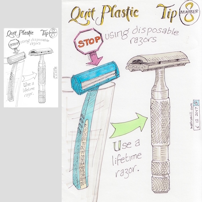 Quit Plastic: Tip Number Eight [adjusted and coloured]
