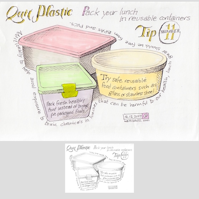 Quit Plastic: Tip Number Eleven [adjusted and coloured]