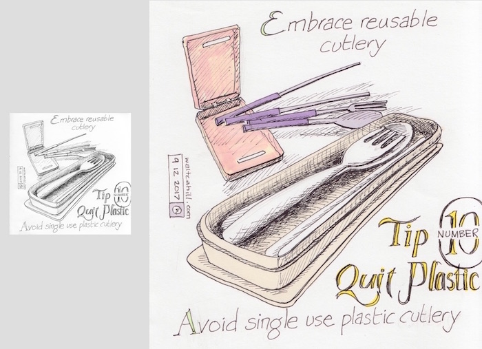 Quit Plastic: Tip Number Ten [adjusted and coloured]