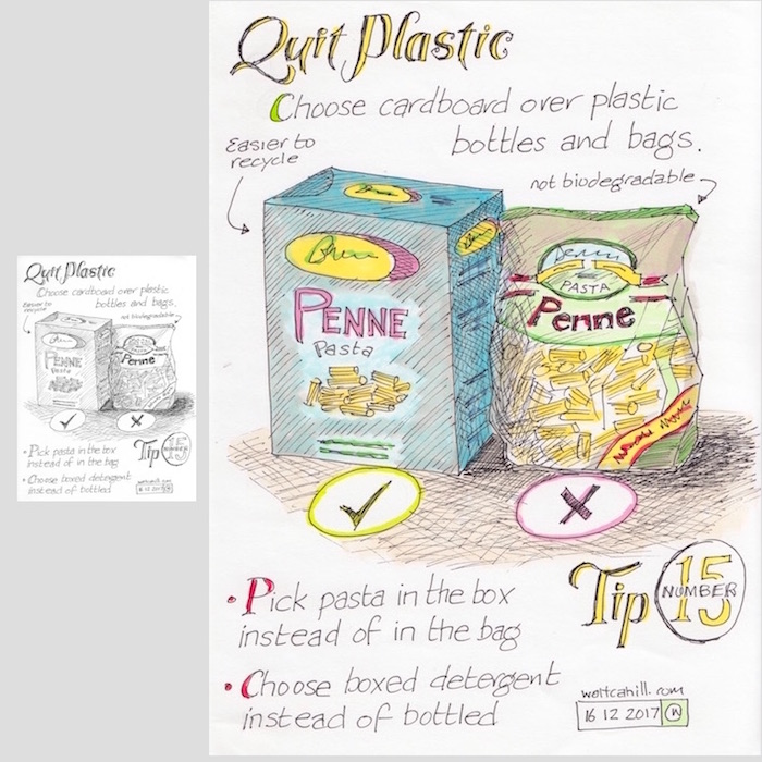 Quit Plastic: Tip Number Fifteen [adjusted and coloured]