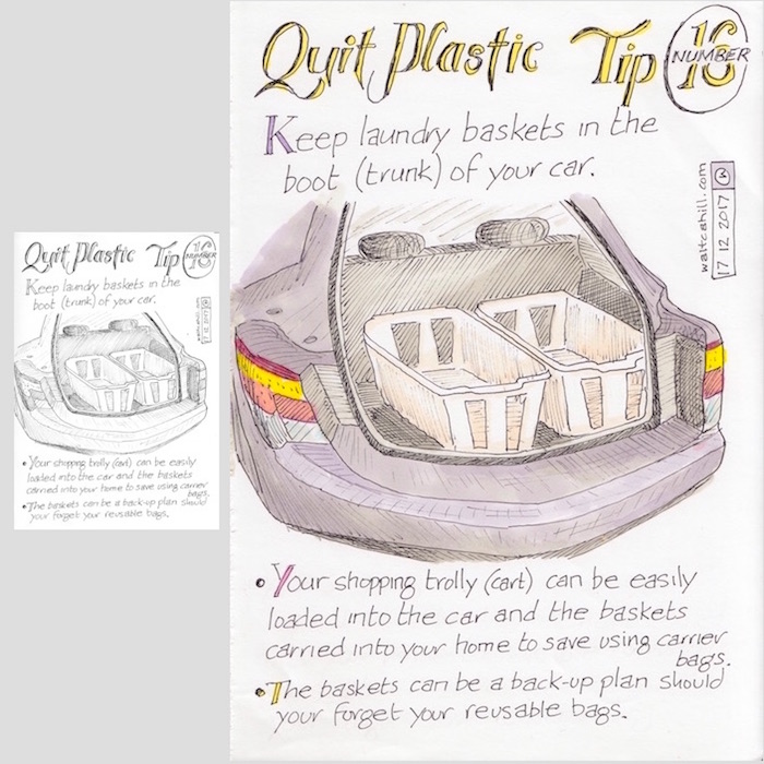 Quit Plastic: Tip Number Sixteen [adjusted and coloured]