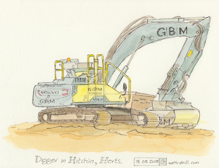 Digging in Hitchin