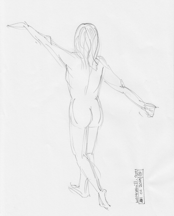 Covent Garden Life Drawing #223
