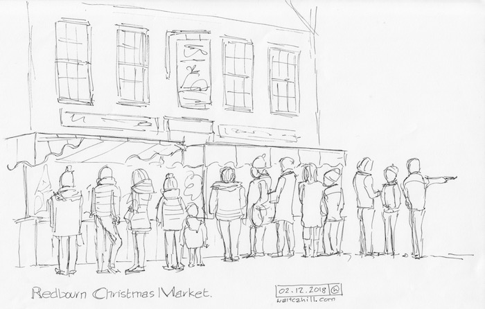 Redbourn, Hertfordshire. Christmas Market.