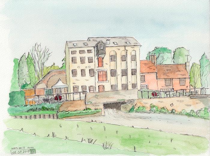 Jordans Mill in Broom, Biggleswade, Bedfordshire.