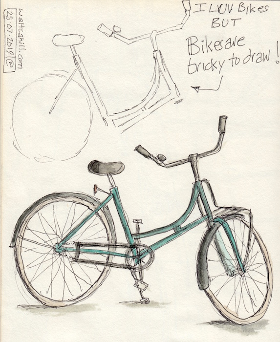 Bikes are Tricky to Draw