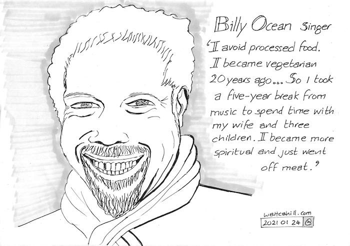 Billy Ocean: Vegetarian