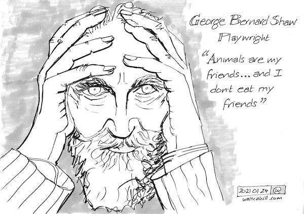 George Bernard Shaw: Vegetarian